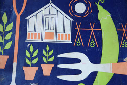 detail from vintage 1960s gardening annual
