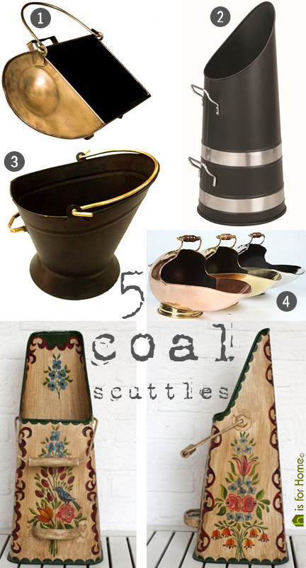 selection of 5 coal scuttles | H is for Home