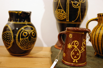 collection of slipware pottery by Han