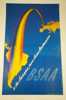 FHK Henrion BSAA poster from a collection bought at auction by H is for Home