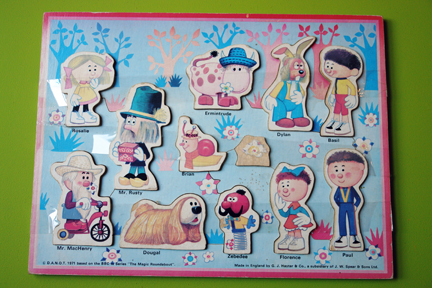 vintage children's jigsaw of Magic Roundabout characters