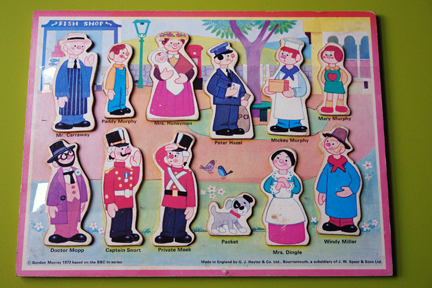 vintage children's jigsaw of Trumpton characters