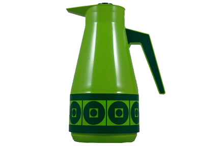 bright green vintage vacuum flask