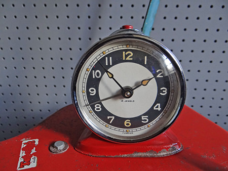 vintage red alarm clock