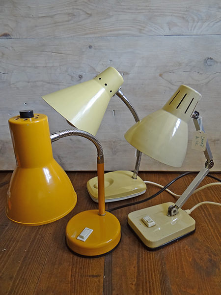 collection of vintage desk lamps via @hisforhome