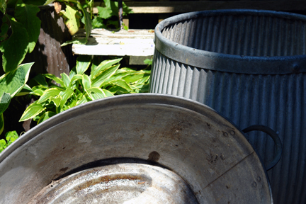 tin dolly tub and bath from a selection of vintage garden items