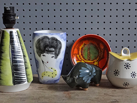 Collection of vintage pottery homeware items | H is for Home