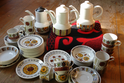 selection of vintage Kathie Winkle crockery