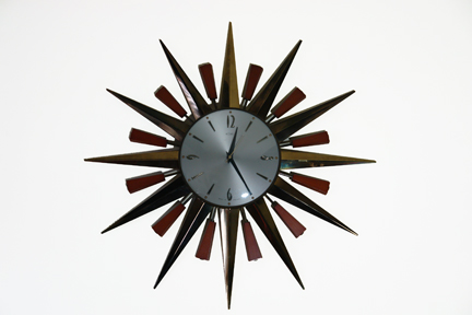 vintage 1960s Metamec starburst clock