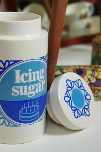 vintage Lord Nelson pottery icing sugar canister
