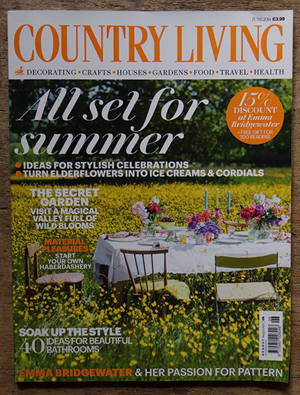 Country Living June 2014 magazine cover