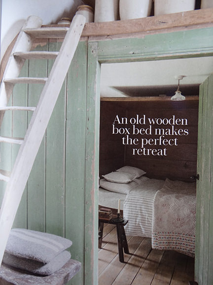'Wooden box bed  in Country Living magazine June 2014