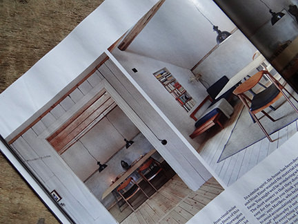 "table and chairs in ""Simply Beautiful"" article from the February 2014 edition of Elle Decoration magazine"