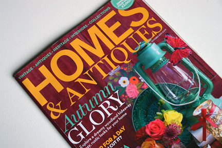 cover of the October 2013 issue of Homes & Antiques magazine