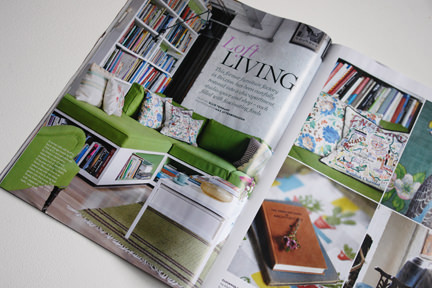 """Loft Living"" feature of Brixton East in the October 2013 issue of Homes & Antiques magazine"