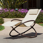 cream garden lounger