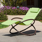 green garden lounger