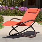 orange garden lounger