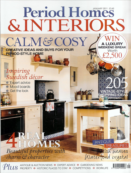 Period Homes & Interiors cover, January 2011 issue