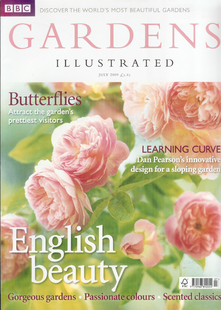July 2009 BBC Gardens Illustrated magazine cover