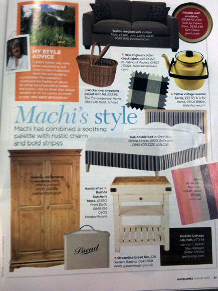 August 2010 Good Homes Magazine cutting
