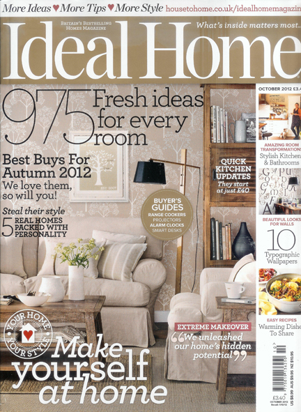 October 2012 Ideal Home magazine cover