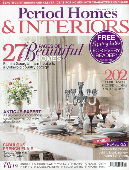 February 2011 Period Homes & Interiors magazine cover