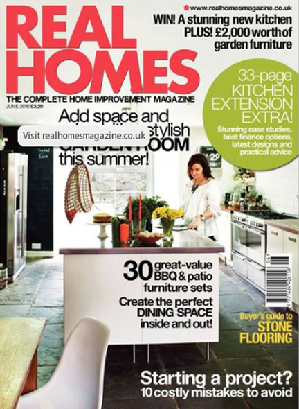 June 2010 Real Homes Magazine cover