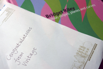 letter of congratulations for winning the catalogue from Vintage