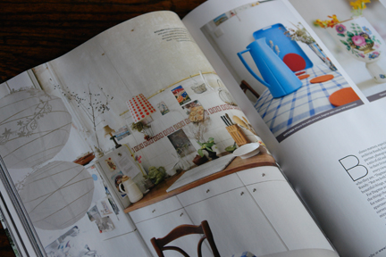 page in a magazine with an image of a kitchen