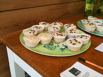 Homemade cupcakes & cordial at the Snug Gallery open day in Hebden Bridge on Sunday 22nd August 2010