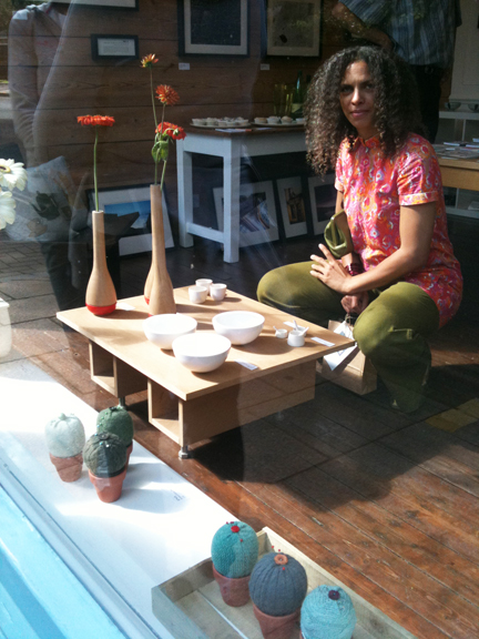 Adelle of H is for Home at Snug Gallery in Hebden Bridge for their &quot;cupcakes &amp; cordial&quot; event