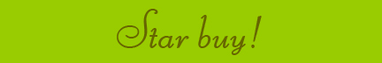 &quot;Star buy!&quot; blog post banner