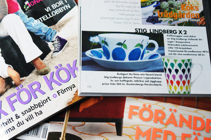 selection of contemporary Swedish interior decoratoin and homeware magazines
