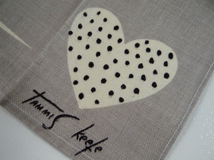 Tammis Keefe teatowel showing her signature
