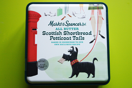 Marks &amp; Spencer Scottish shortbread petticoat tails tin