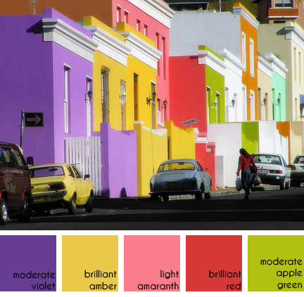 colourful houses in Bo Kaap, Cape Town, South Africa