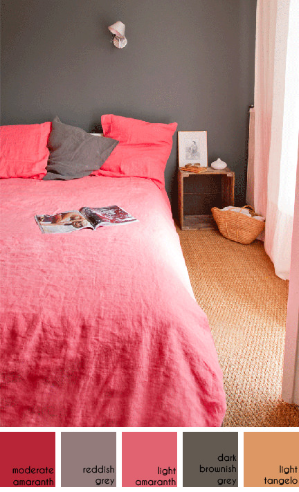 pink linen duvet set available from Bodie and Fou