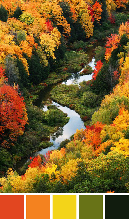 Autumn, Porcupine Mountains Wilderness State Park, Michigan