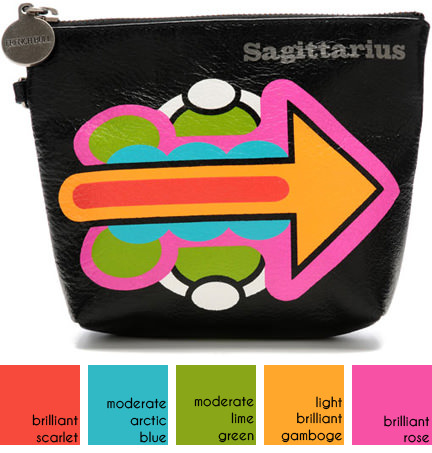Sagittarius Astrology Pouch on the French Bull website