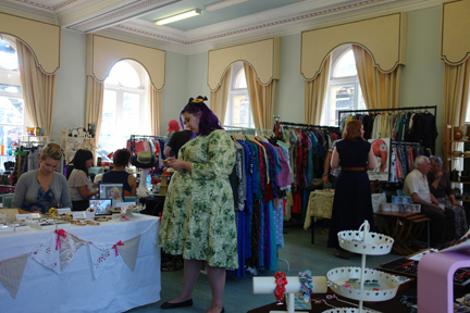 Vanroe stall at the Vintage Home and Fashion Fair, Victoria Hall, Saltaire