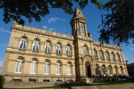 exterior of Victoria Hall, Saltaire