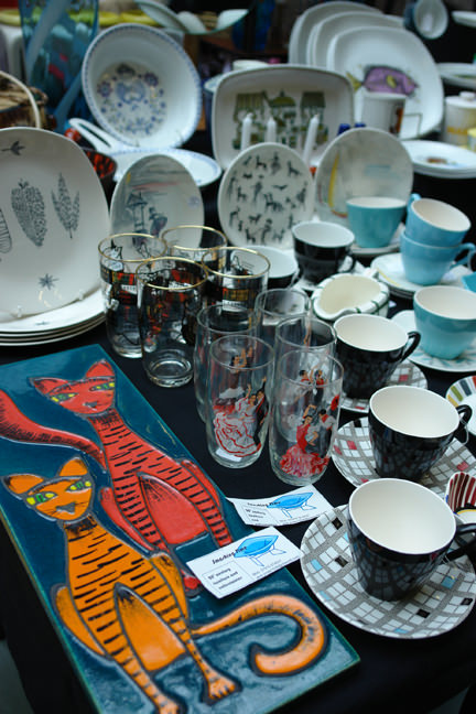 selection of vintage items for sale on the Smashing Time stall