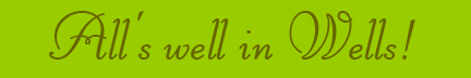 &quot;All's well in Wells!&quot; blog post banner