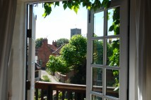 view out of master bedroom of Sailmakers Barn, Wells-next-the-Sea