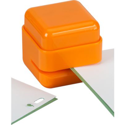 bright orange staple free stapler
