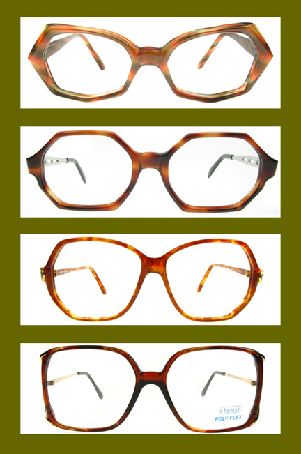 selection of Roope Vintage tortoise rimmed glasses