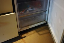 The flood water entered our freezer