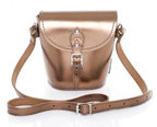 bronze coloured Zatchels Barrel bag