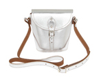 silver coloured Zatchels Barrel bag